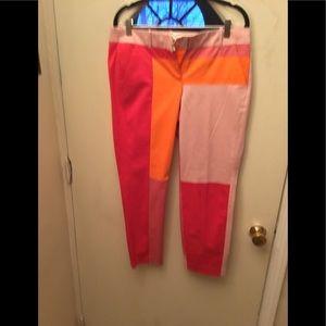 J.crew collection , color bloc pant